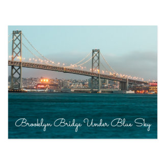 Brooklyn Bridge Under Blue Sky Postcards