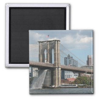 Brooklyn Bridge Waterfall Magnet