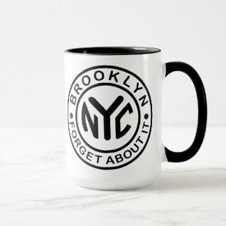 """Brooklyn """"Forget about it"""" coffee mug"""