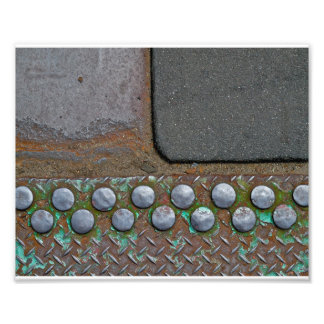 Brooklyn Ground- Corrugated Iron Tarmac Art Photo