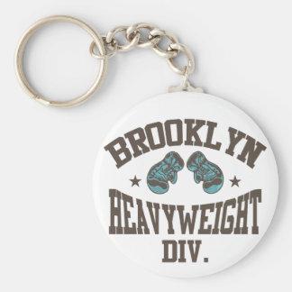 Brooklyn Heavyweight Division Mocha Basic Round Button Keychain