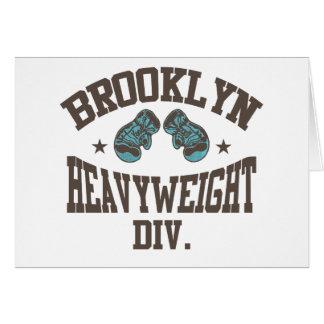 Brooklyn Heavyweight Division Mocha Greeting Card