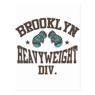 Brooklyn Heavyweight Division Mocha Postcard
