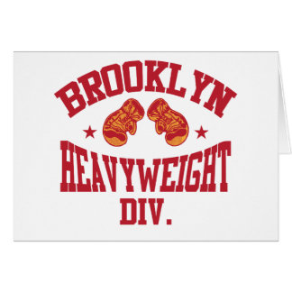 Brooklyn Heavyweight Division Red Greeting Card