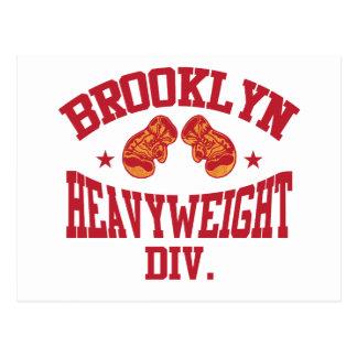 Brooklyn Heavyweight Division Red Postcard