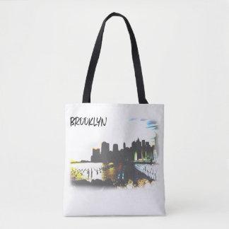 Brooklyn Hudson River Scene Tote Bag