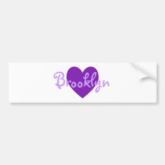 Brooklyn in Purple Bumper Sticker