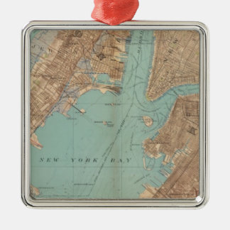 Brooklyn, Jersey City, and Hoboken Metal Ornament