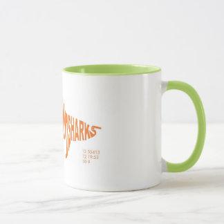Brooklyn Landsharks Mug - Orange on Lime