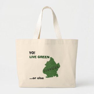 Brooklyn - LIVE GREEN, ...or else Jumbo Tote Bag