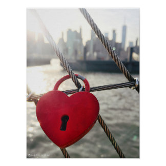 Brooklyn Love Lock Poster