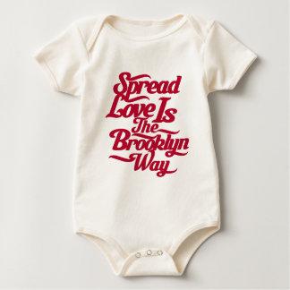 Brooklyn Love Red Baby Bodysuit