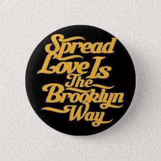 Brooklyn Love Yellow 2 Inch Round Button