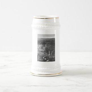Brooklyn Map Beer Stein in Black & White