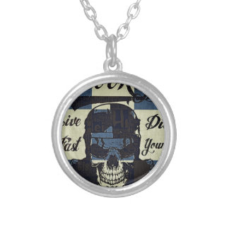 Brooklyn Motorcycle Club Silver Plated Necklace
