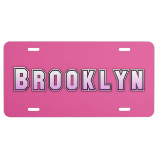 Brooklyn New York Aluminum License Plate