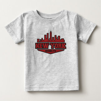 Brooklyn New York   Block Style Script Baby T-Shirt