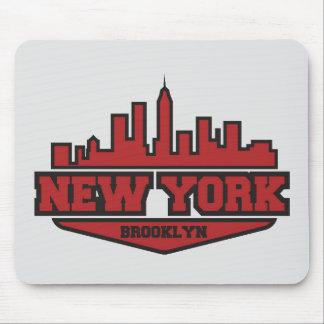 Brooklyn New York | Block Style Script Mouse Pad