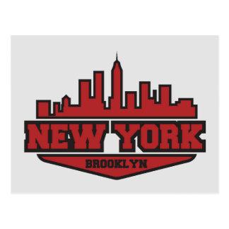 Brooklyn New York   Block Style Script Postcard