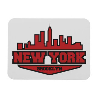 Brooklyn New York   Block Style Script Rectangular Photo Magnet