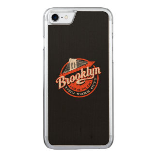 Brooklyn New York City | Retro Typography Carved iPhone 8/7 Case