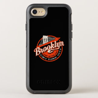 Brooklyn New York City | Retro Typography OtterBox Symmetry iPhone 8/7 Case