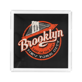 Brooklyn New York City | Retro Typography Serving Tray