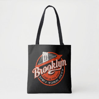 Brooklyn New York City | Retro Typography Tote Bag