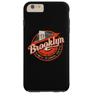 Brooklyn New York City | Retro Typography Tough iPhone 6 Plus Case