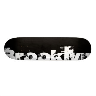 Brooklyn - New York, Cool, Bold, Black And White Skate Board