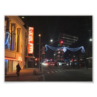 Brooklyn New York Fulton Street Holiday Lights NYC Photo Print