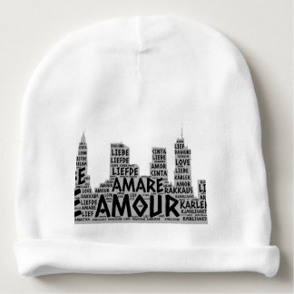 Brooklyn New York illustrated with Love Word Baby Beanie