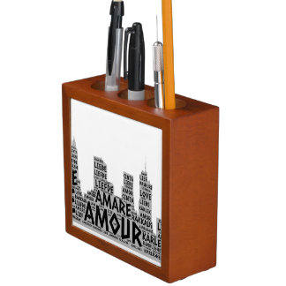 Brooklyn New York illustrated with Love Word Desk Organizer