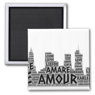 Brooklyn New York illustrated with Love Word Magnet
