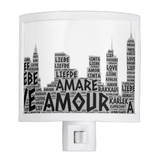 Brooklyn New York illustrated with Love Word Night Lite