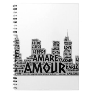 Brooklyn New York illustrated with Love Word Notebook