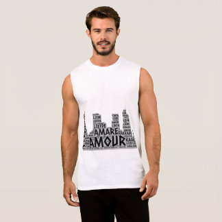 Brooklyn New York illustrated with Love Word Sleeveless Shirt