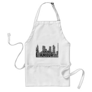 Brooklyn New York illustrated with Love Word Standard Apron