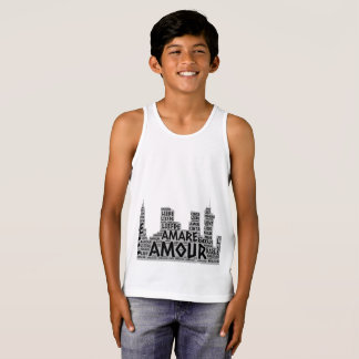 Brooklyn New York illustrated with Love Word Tank Top