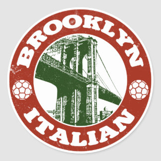 Brooklyn New York Italians Classic Round Sticker