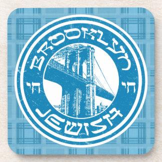 Brooklyn New York Jewish Coaster Set