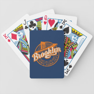 Brooklyn, New York | Retro Vintage Typography Bicycle Playing Cards