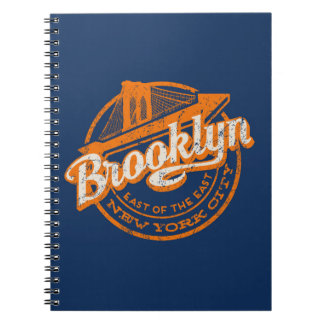 Brooklyn, New York | Retro Vintage Typography Notebook