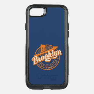 Brooklyn, New York   Retro Vintage Typography OtterBox Commuter iPhone 8/7 Case