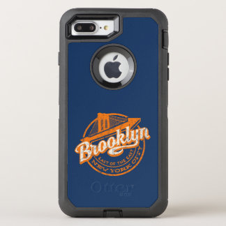 Brooklyn, New York | Retro Vintage Typography OtterBox Defender iPhone 8 Plus/7 Plus Case