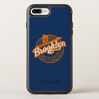 Brooklyn, New York | Retro Vintage Typography OtterBox Symmetry iPhone 8 Plus/7 Plus Case