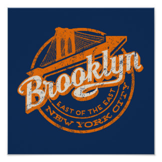 Brooklyn, New York | Retro Vintage Typography Poster