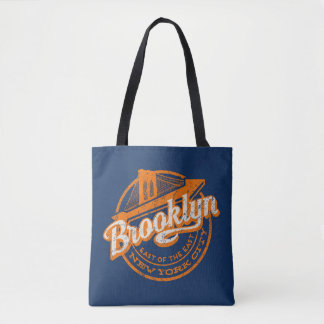 Brooklyn, New York | Retro Vintage Typography Tote Bag