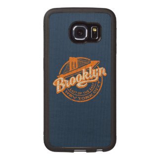 Brooklyn, New York | Retro Vintage Typography Wood Phone Case