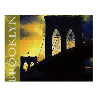 Brooklyn, New York The Brooklyn Bridge Postcard